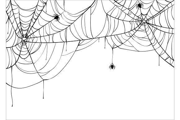 Halloween Spiderweb Vector Spider Web Drawing Halloween Spider Web Web Tattoo