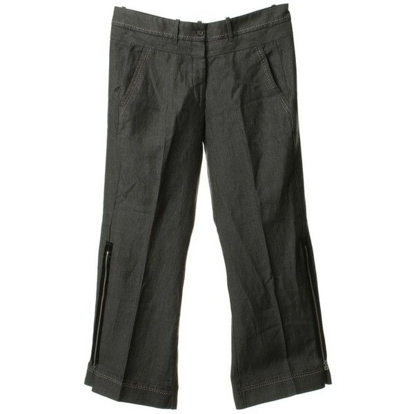 Pre-owned Wide trousers in grey ($65) ❤ liked on Polyvore featuring pants, grey, marithe francois girbaud pants, grey pants, wide-leg pants, wide-leg trousers and gray pants