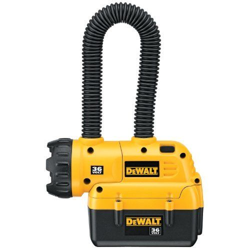 DEWALT DC509 36-Volt Lithium-Ion Floodlight by DEWALT. $48.60. Amazon.com                Illuminate your work area and keep your hands free for improved precision and safety with the versatile DeWalt DC509 36-volt lithium-ion floodlight. Featuring a unique flex-neck design with a lockable head that allows for custom beam placement, this light is easy to hang when you are working in a precarious spot, but it also offers a sturdy base for when you want to stand the light up. M...