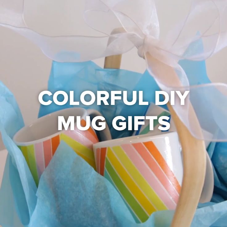 Colorful DIY Mug Gifts // #mugs #coffee #diy #gifts #presents