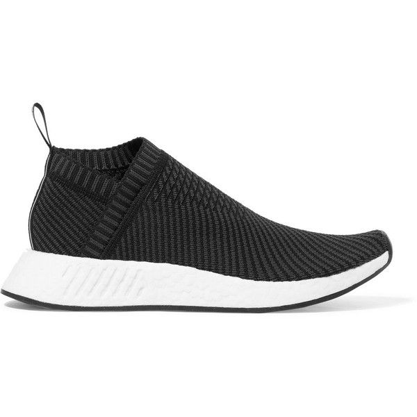 adidas Originals NMD_CS2 Primeknit sneakers (265 CAD) ❤ liked on Polyvore featuring shoes, sneakers, rubber shoes, slip-on sneakers, slip on sneakers, rubber sole sneakers and adidas originals trainers