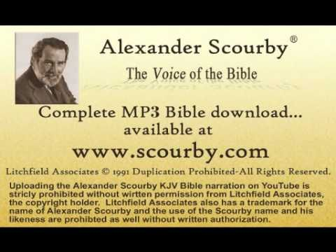 http://scourby.com - Scourby Audio Bible Study APP - The Chicago Tribune wrote Alexander Scourby had the Greatest Voice ever recorded.  Listen and see if you agree.