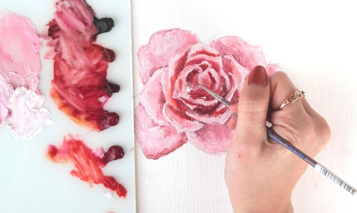 How To Paint A Rose | 2 of my methods - YouTube