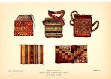 PERUVIAN MUMMY ANCON INCAS textiles print