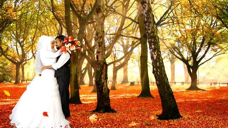 Autumn themed wedding.