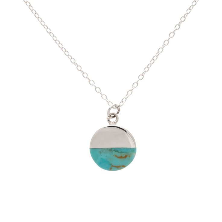 Buy the Silver Lyca Turquoise Circle Necklace at Oliver Bonas. Enjoy free worldwide standard delivery for orders over £50.
