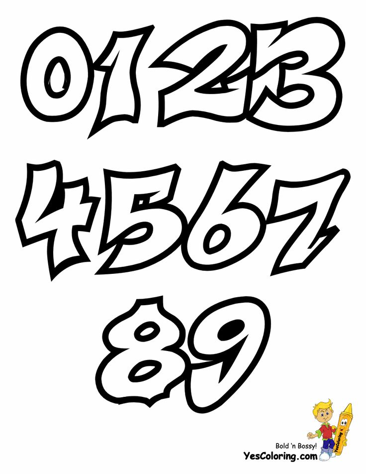 Free fearless Graffiti Coloring Pages you can print out. Use these letters and numbers for your art projects and to jazz up any kid's room. Create stencils and templates for signs and posters. This is a free printable of the Throw Up Graffiti Numbers Chart at YesColoring http://www.yescoloring.com/graffiti-coloring-pages.html