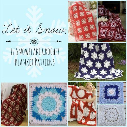 Let it Snow: 17 Snowflake Crochet Blanket Patterns