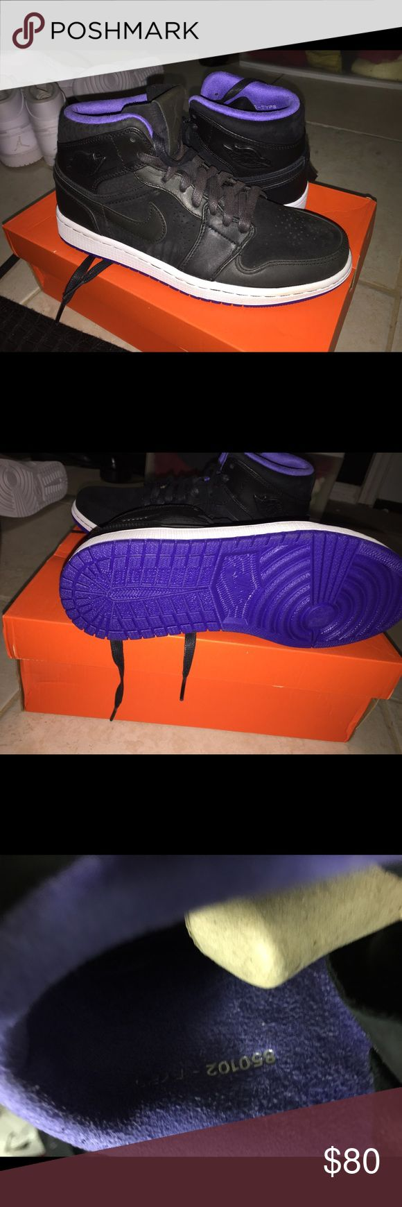 Air Jordan 1 black/purple 80$ brand new with a box Air Jordan 1 black/purple 80$brand new with a box Jordan Shoes Sneakers