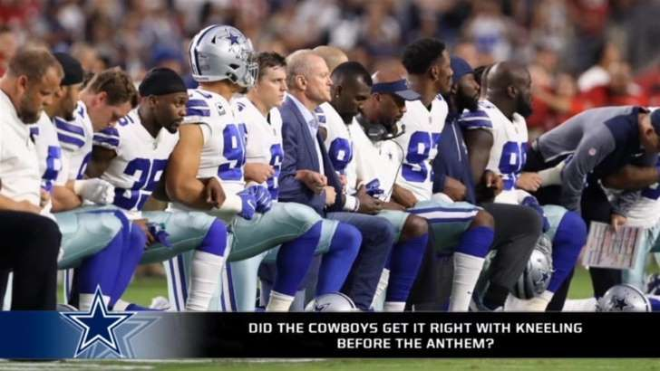 Report: Donald Trump called Jerry Jones multiple times about anthem protest . The president was really throwing around his weight and meant business about the national anthem protests.