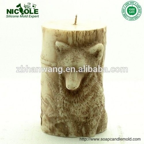 Nicole Handmade Animal Shape Large Pillar Silicone Candle Mold