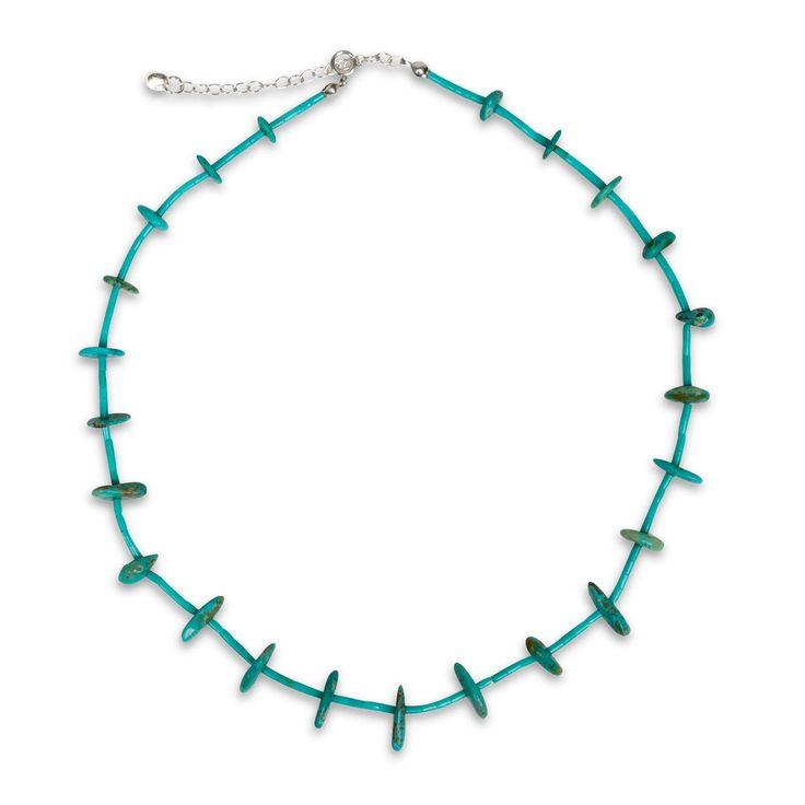 Collier Olathe - L'alliance de la turquoise en pierre brute et perles - 29,95 €