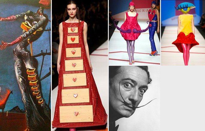 Salvador Dalí e Ágatha Ruiz de la Prada - Arte e moda: i quadri diventano moda