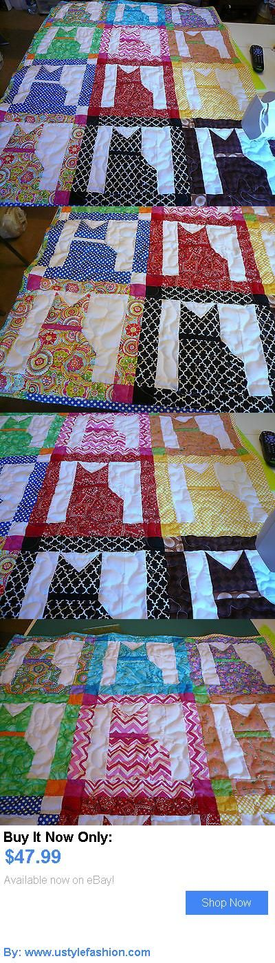 Quilts And Coverlets: Handcrafted Boy Girl Pieced Cat Baby Crib Lap Throw Quilt Multi Colors 40 X51 BUY IT NOW ONLY: $47.99 #ustylefashionQuiltsAndCoverlets OR #ustylefashion