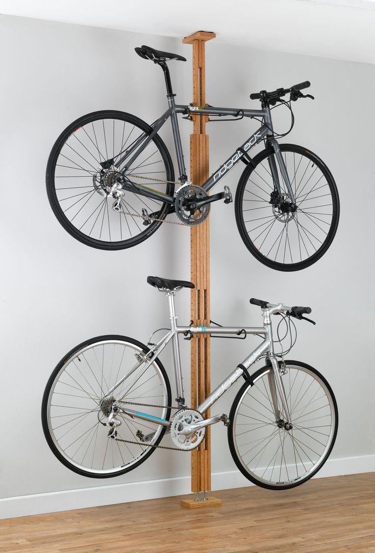 Signature Series 2 Bike Oakrak Floor To Ceiling Storage Rack Met Afbeeldingen Fiets Hanger Plafond Opslag Opberg Fiets