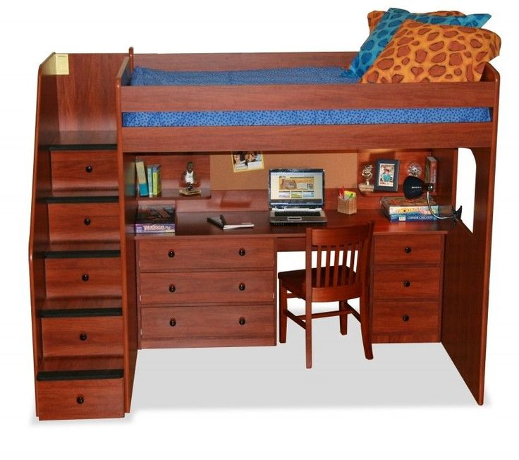 Solid Wood Bunk Beds With Stairs - Foter