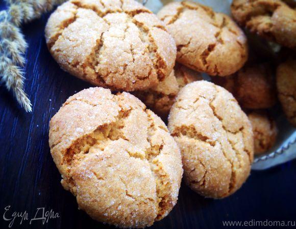 Медово-имбирное печенье. Ингредиенты: мука, сливочное масло, сахар