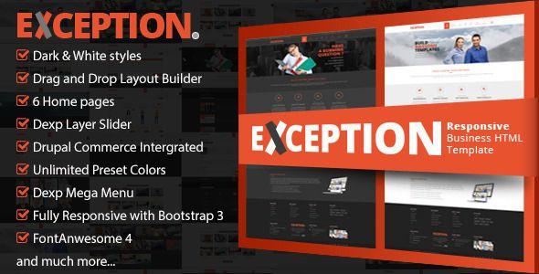 EXCEPTION - Responsive Business Drupal Theme