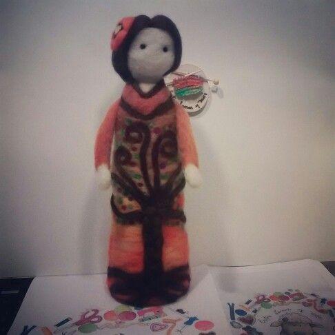 Knitted Felted Doll/ Muñeca en fieltro agujado #felt#knittedfelteddoll