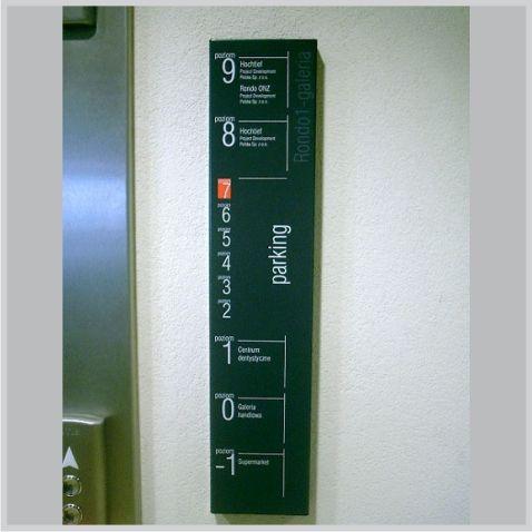 Rondo1 - Warszawa - Oznakowanie windy  - www.vds.com.pl