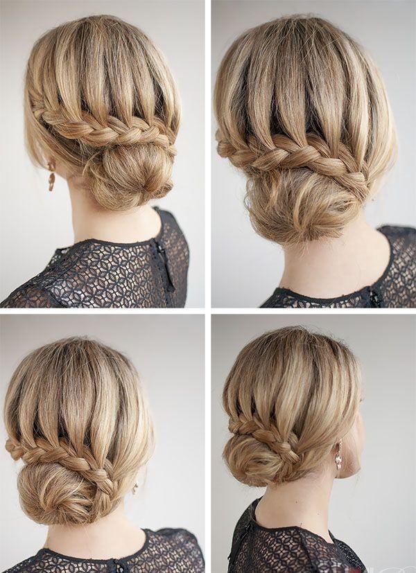 Strange 1000 Ideas About Easy Bun Hairstyles On Pinterest Easy Bun Bun Short Hairstyles Gunalazisus