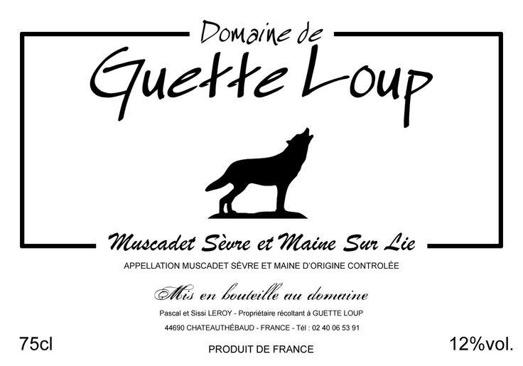 Guette Loup - Étiquette de vin