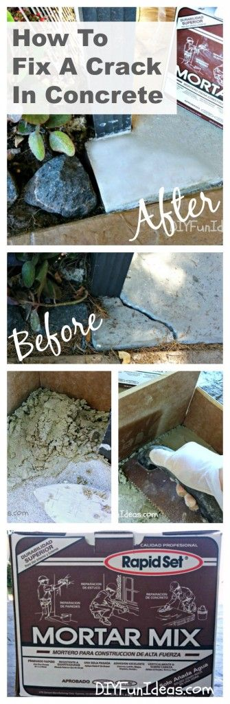 HOW TO FIX A CRACK IN CONCRETE ............Most popular pins!