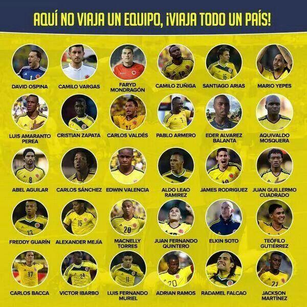Seleccion Colombia Mundial 2014