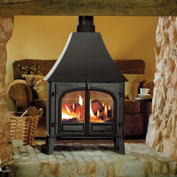 Fireplace Traditional Freestanding Fireplace: Black Metal Antique Vintage Iron Free Standing Fireplace Along With Glass See Through Fireplace And Flueless Wood Burning Stoves Impressive
