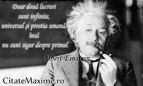 Doar doua lucruri sunt infinite, universul si prostia umana insa nu sunt sigur de primul  #CitatImagine de @AlbertEinstein  Iti place acest #citat? ♥Like♥ si ♥Share♥ cu prietenii tai.  #CitateImagini: #Amuzante, #Prostie, #Haioase #AlbertEinstein  Vezi mai multe #citate pe http://citatemaxime.ro/