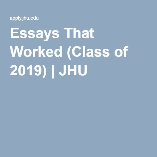 College admission essays that worked