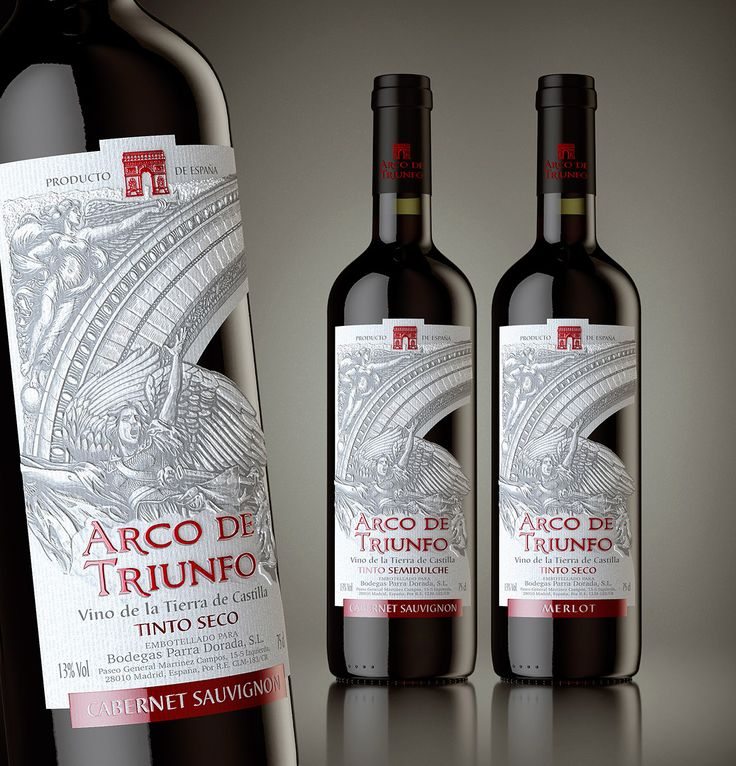 3d visualization wine Arco de Triunfo for Grand buro on Behance