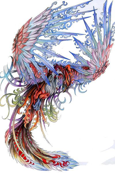 phoenix tattoo idea. Love the color