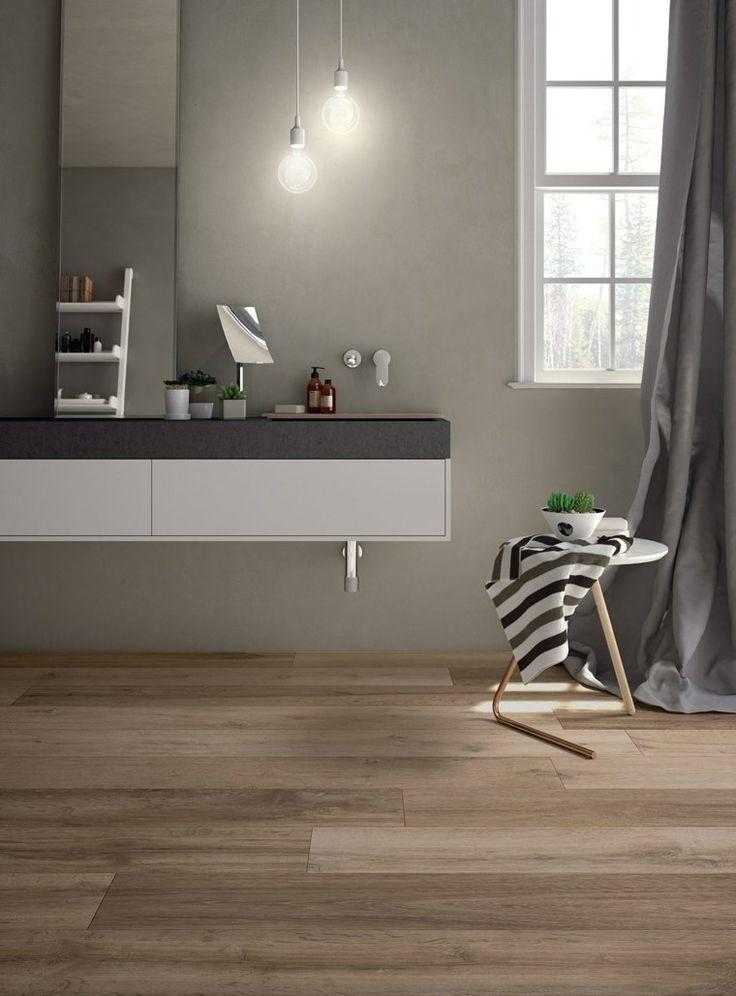 carreaux de sol et salle de bain en bois