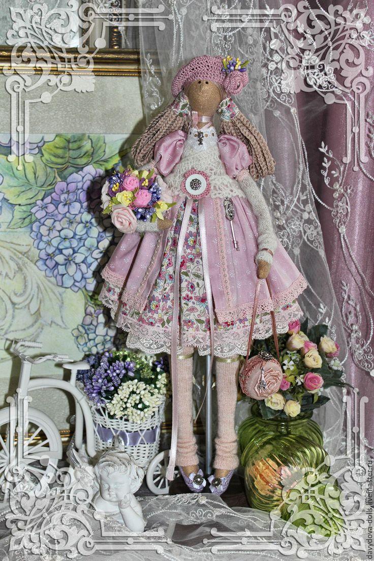 Купить кукла тильда Милана - розовый, кукла ручной работы, кукла в подарок, кукла интерьерная