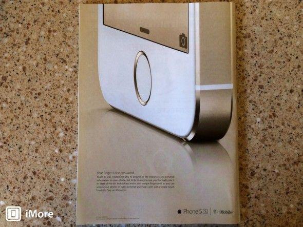 Primeros Anuncios Impresos del iPhone 5s Centrados en el Touch ID