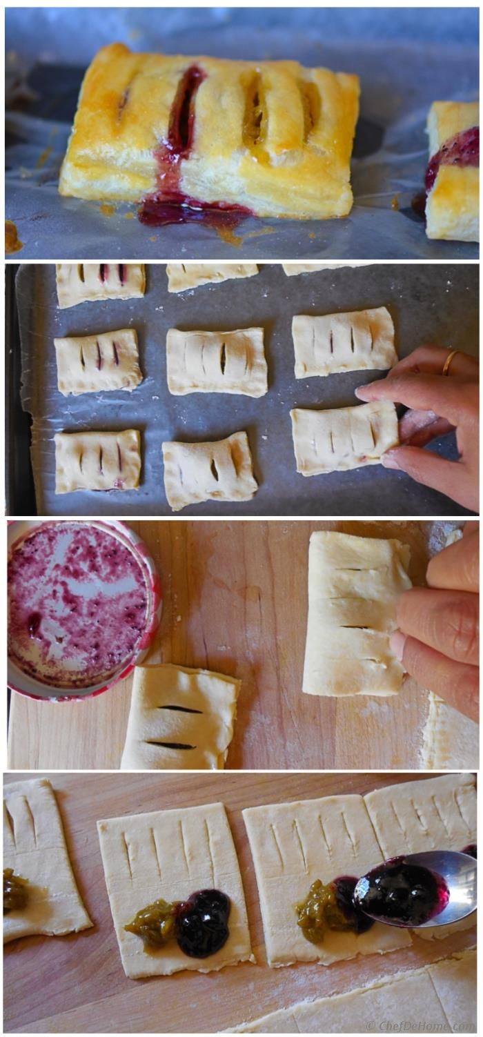 Baked Petite Pastry Bites with Homemade Sour Grape Preserve
