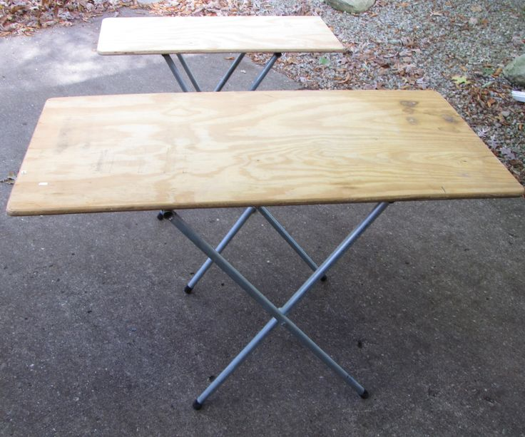 This tutorial will show how to make portable tables that are easy to setup and just the right size for craft shows, garage sales, flea markets or just extra tables for finishing work. My wife needed portable tables for her craft shows. Craft show spaces vary in size, so she asked me to create two different sizes. I started making these tables about eight years ago and I routinely get requests for instructions on how to make them. Rather than create an unneeded set of tables, I shot photos…