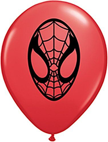 Pioneer Balloon Company 100 Count Spider-Man Face Latex Balloons 5 Red @ niftywarehouse.com #NiftyWarehouse #Spiderman #Marvel #ComicBooks #TheAvengers #Avengers #Comics
