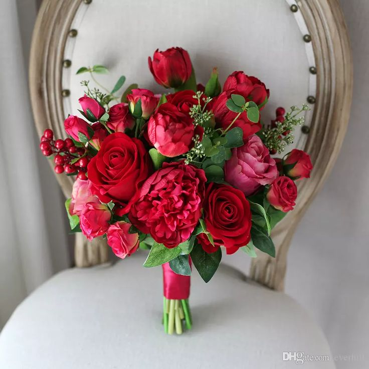 Western Style Artificial Wedding Flowers Bridal Bouquets Red Roses Peony Tulip Wedding Bouquet For Brides Bridesmaid Brooch Bouquet Mariage Average Cost Of Wedding Flowers Bridesmaid Flowers From Everhill, $70.44| Dhgate.Com