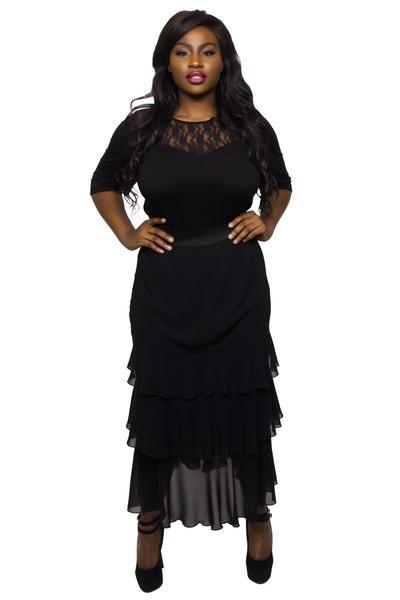 Angela Maxi Ra Ra Skirt