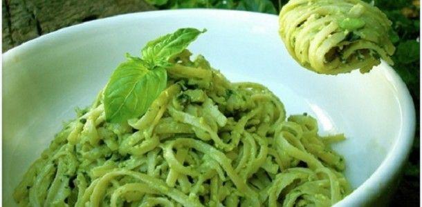 Plant Based Diet Recipes Avocado Pesto Pasta Recipe