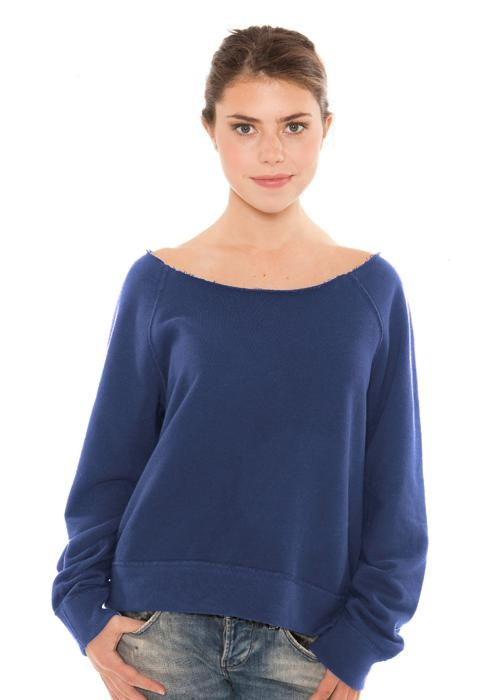 Redwood Classics- Women's French Terry Raw Edge Pullover-100% cotton, 14 oz. French terry-retail quality, light-weight, French terry • enzyme washed for soft and smooth hand-feel • garment-washed and pre-shrunk • no pilling after wash  • Made in Canada