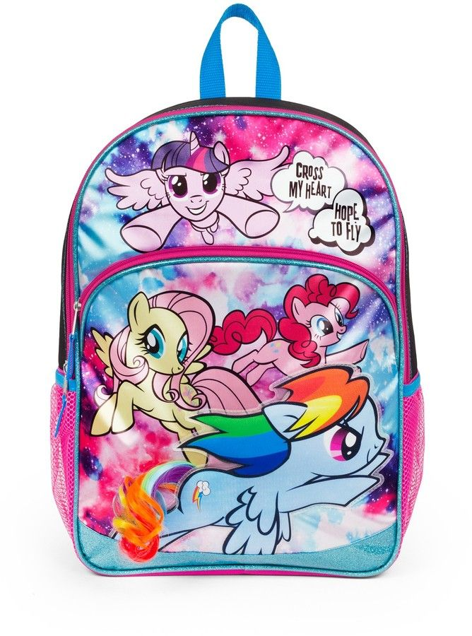 FAB Starpoint My Little Pony Galaxy Girl 16 & Hair Extension Backpack