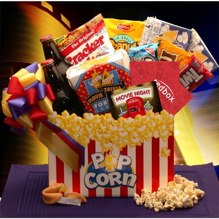 Movie Night Mania Gift Box - with 10.00 Redbox Gift Card