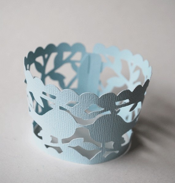 Lace Lovebirds Wedding Cupcake Wrappers craft-ideas food-that-means-something