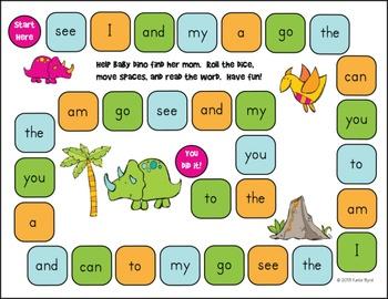 dfbf85f10603945968bae164408cfefa  kindergarten sight words kindergarten centers - Kindergarten Sight Word Games Printable