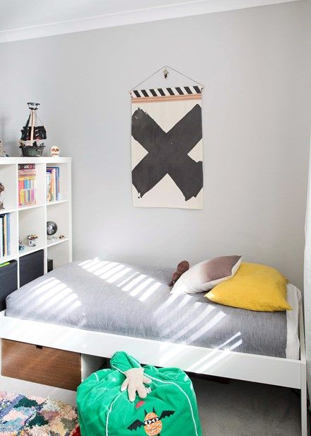 Bold style On Archie's side a bold Pony Rider wall hanging sets the theme | Home Beautiful Magazine Australia