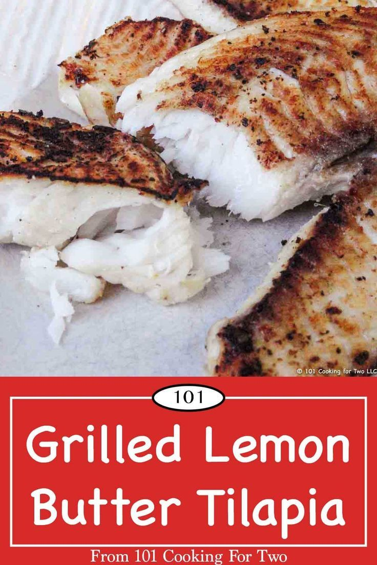 Grilled Lemon Butter Tilapia Recipe With Images Lemon Butter Tilapia Cooking Recipes Recipes