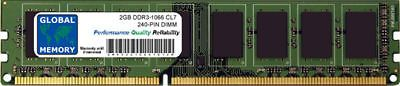 2GB DDR3 1066MHz PC3-8500 240-PIN DIMM MEMORY RAM FOR DESKTOPS/PCs/MOTHERBOARDS